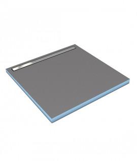 Wedi Fundo Riolito Néo receveur avec écoulement linéaire intégré latéralement, carré.