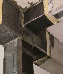 Renforcement par fibres de carbone FRF